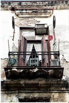 Unrestored balcony in Havana