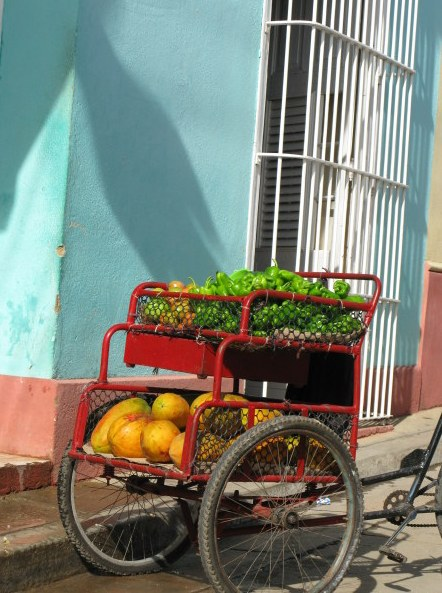 Vegetable cart Trinidad de Cuba