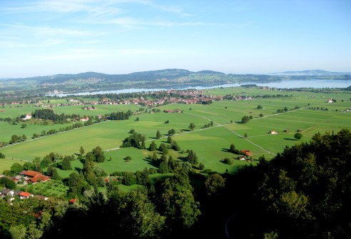 View of countryside from Neuschwanstein Castle Bavaria