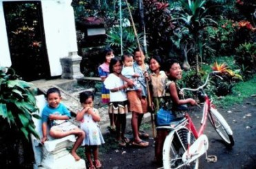 Village children in Bali