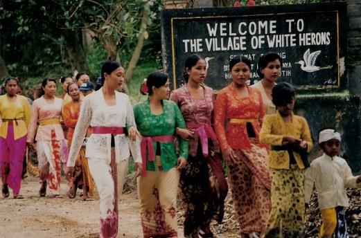 Village ladies of Petulu - Village of White Herons Bali