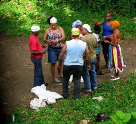 Voodoo ceremony Almendares Park Cuba