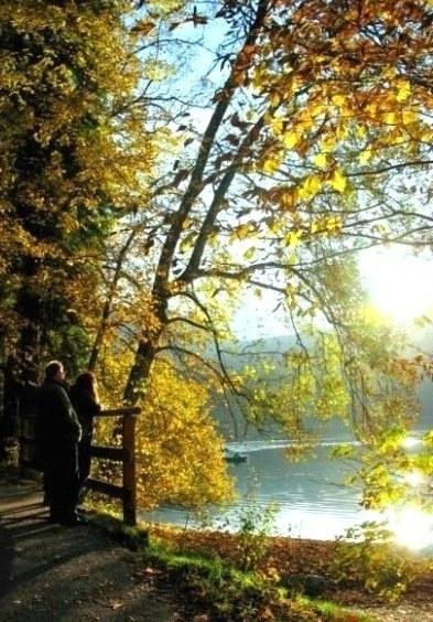 Walkers beside the Alpsee Bavaria
