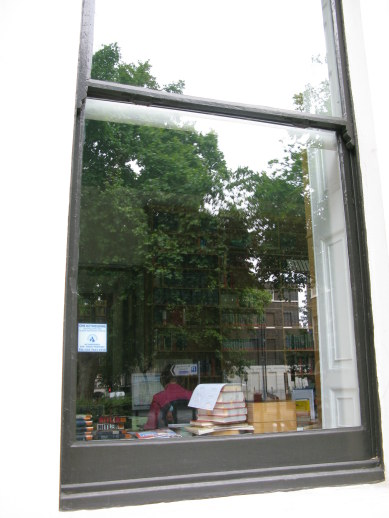 Window of publishing house in Bloomsbury London