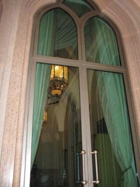 Window reflections Emirates Palace Hotel Abu Dhabi