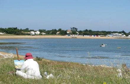Île d'Oléron artist painting St. Denis beach