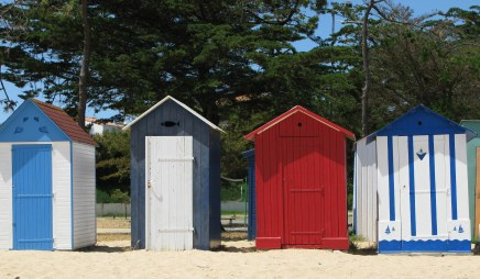 Île d'Oléron bathing box designs St. Denis beach
