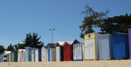 Île d'Oléron bathing boxes St. Denis beach