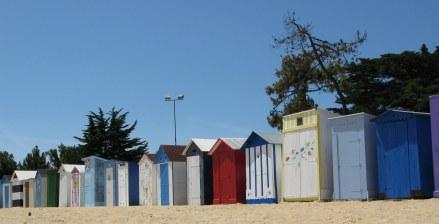 Île d'Oléron bathing boxes St. Denis beach