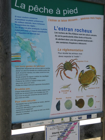 Île d'Oléron interpretive sign
