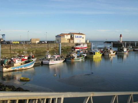 Île d'Oléron La Cotinière port by day
