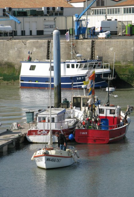 Île d'Oléron port of La Cotinière docking troll boat