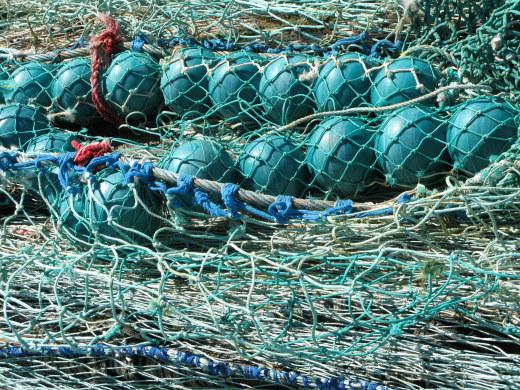 Île d'Oléron port of La Cotinière fishing nets