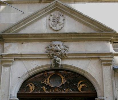 Rothenburg ob der Tauber 1596 doorway arch