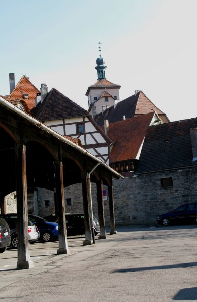 Rothenburg ob der Tauber city roofline
