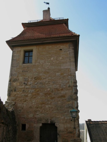 Rothenburg ob der Tauber city wall tower