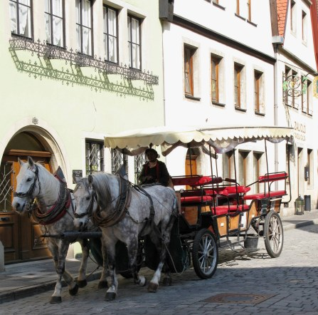 Rothenburg ob der Tauber horse-drawn coach