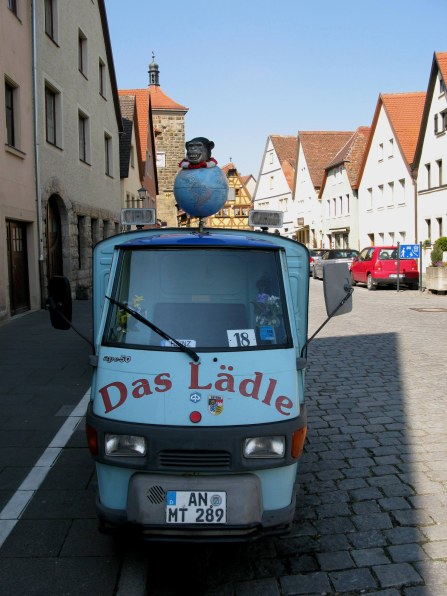 Rothenburg ob der Tauber tiny delivery van