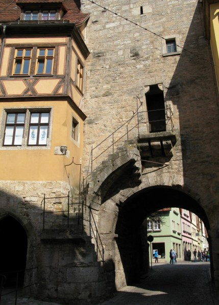 Rothenburg ob der Tauber tower stairs