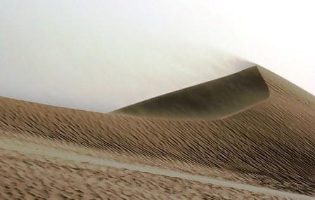 Abu Dhabi Desert: Dune wind