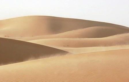 Abu Dhabi Desert dunes in wind