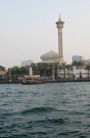 Al Bastakiya Mosque from Dubai Creek water taxi