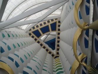 Apex of the interior tower of Burj Al Arab Dubai