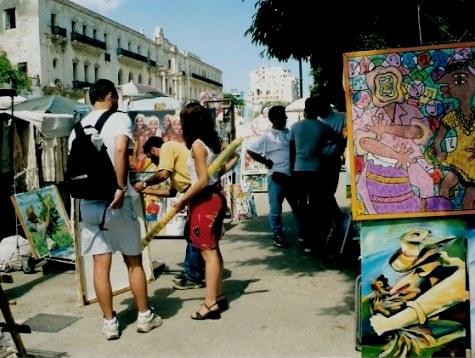 Artwork in the Havana Craft Market