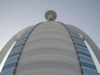 Burj Al Arab Dubai helipad from underneath