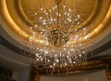 Lobby chandelier Burj Al Arab Dubai