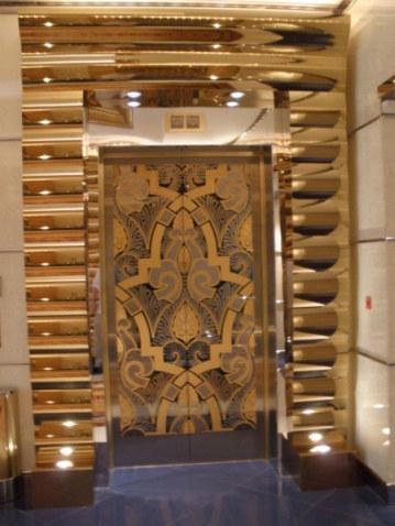 Golden elevators Burj Al Arab Dubai