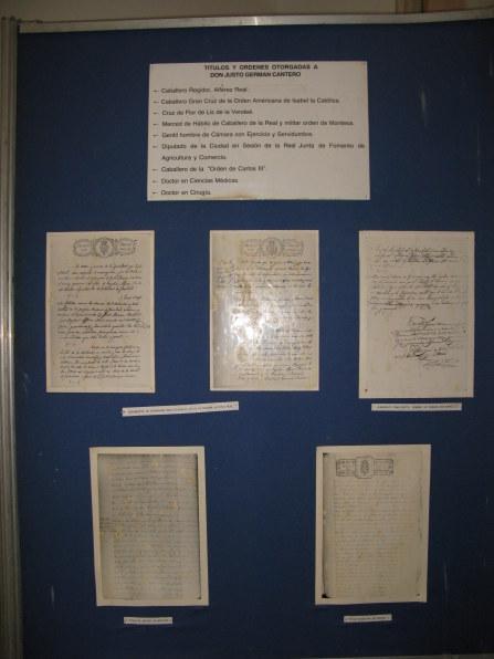 Cantero certificate of titles Palacio Cantero Trinidad de Cuba