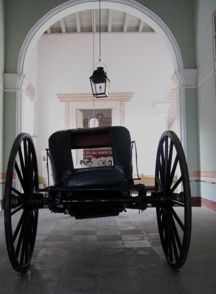 Carriage in Palacio Cantero Trinidad de Cuba