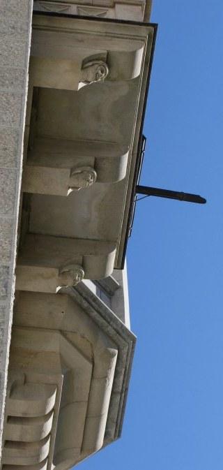 Carved support beams Neuschwanstein Castle Bavaria