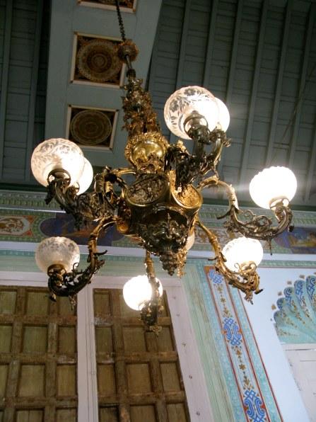Chandelier in Palacio Cantero Trinidad de Cuba