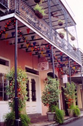 Chili pepper garland in the French Quarter New Orleans