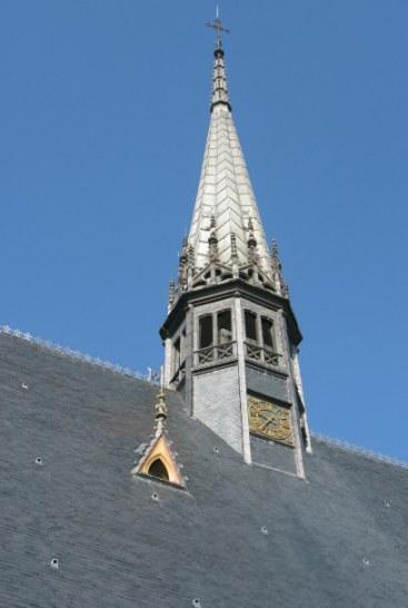 Clock with spire Hospices de Beaune