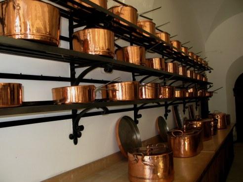 Copper pots Neuschwanstein Castle Bavaria
