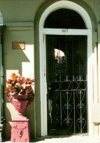 Doorway in the French Quarter New Orleans