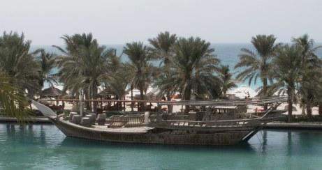 Dubai Madinat Jumeirah traditional wooden ship
