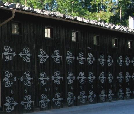 Elaborate hinges on stable doors Hohenschwangau Bavaria
