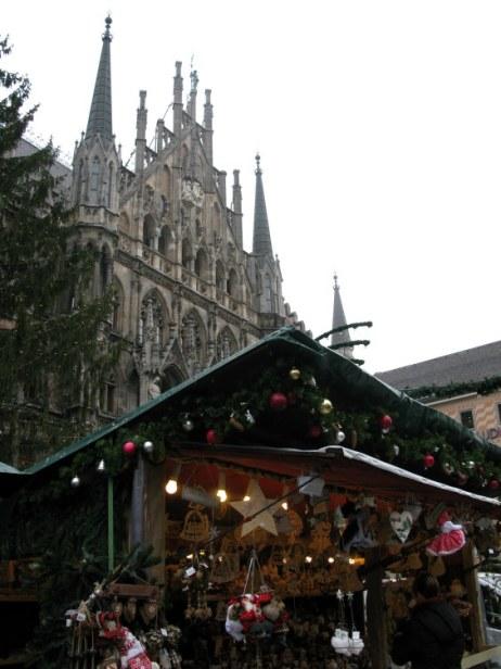 German Christmas Market Munich by day