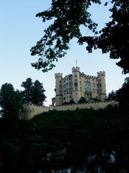 Hohenschwangau Castle above the township