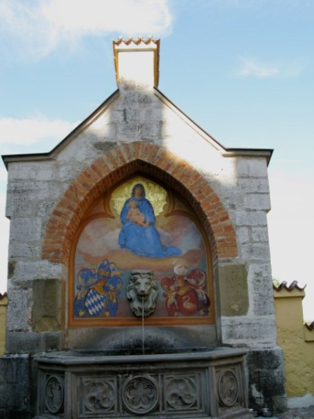 Holy Mother Fountain at Hohenschwangau Castle Bavaria
