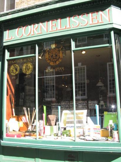 L. Cornelissen Artists Suppliers in Great Russell Street Bloomsbury London