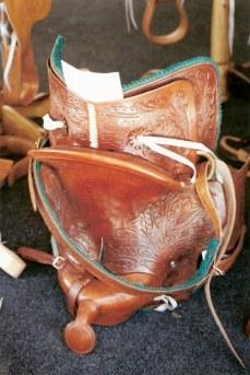 Leather tooled stock saddle – Agricultural Fair – Havana