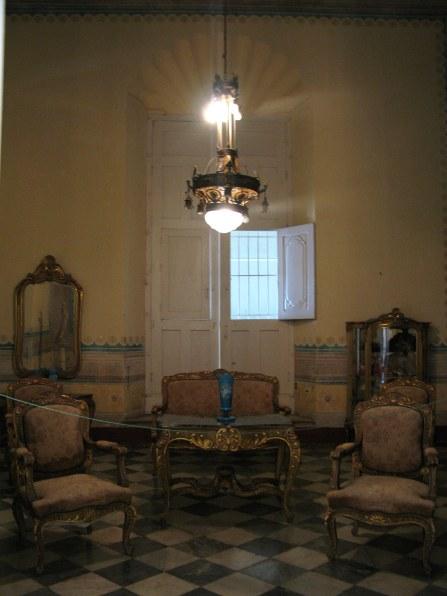 Lounge room in Palacio Cantero Trinidad de Cuba