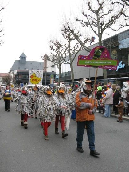 Mainz Carnival Children's Parade ducks