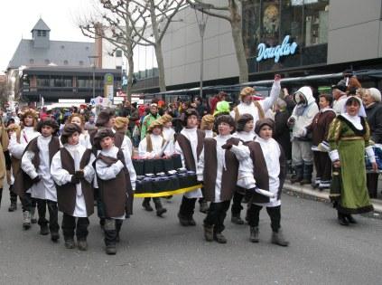 Mainz Carnival Children's Parade little Gutenbergs