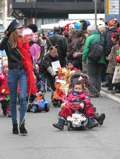 Mainz Carnival Children's Parade pedal cars